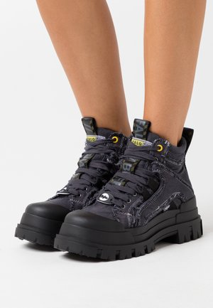 ASPHA MID LACE UP  - High-top trainers - black