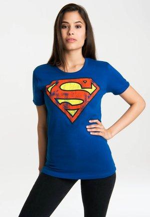 T-SHIRT SUPERMAN-LOGO - Print T-shirt - blau