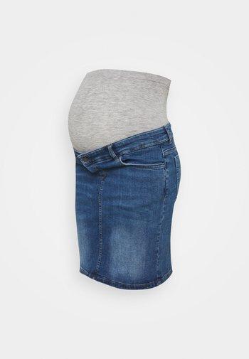 MLSAVANNA ORGANIC SKIRT - Spódnica mini - light blue denim