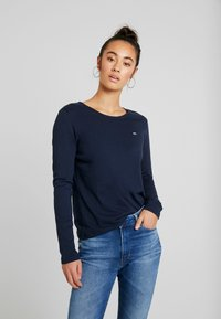Tommy Jeans - TJW SOFT JERSEY LONGSLEEVE - Long sleeved top - black iris - 0