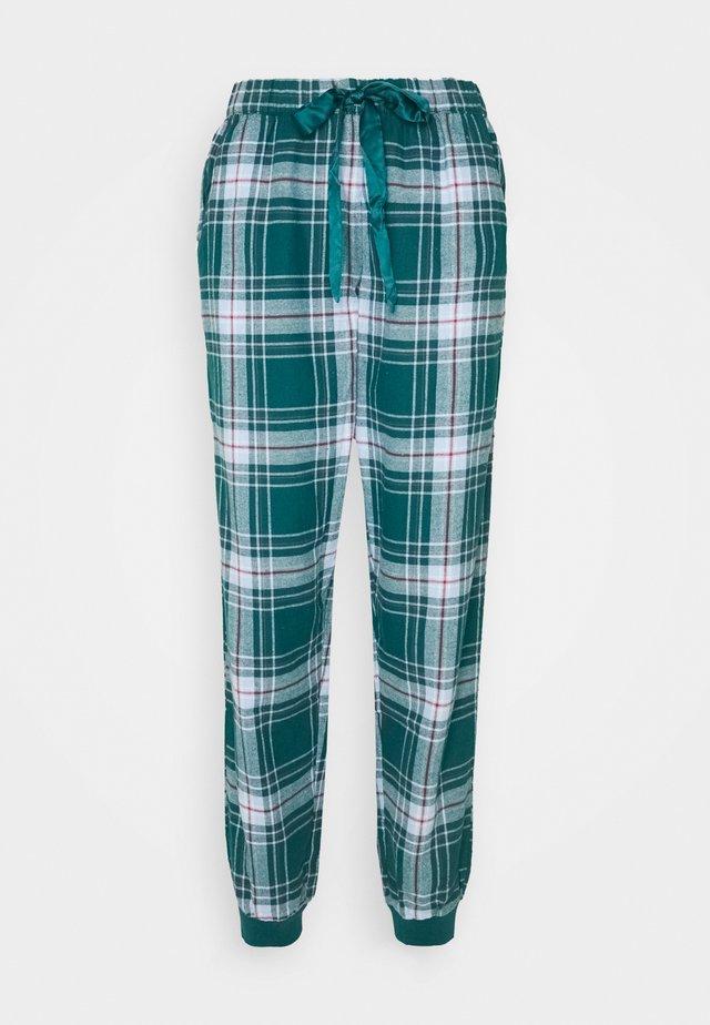 PANT CHECK CUFF - Pyjamahousut/-shortsit - atlantic deep