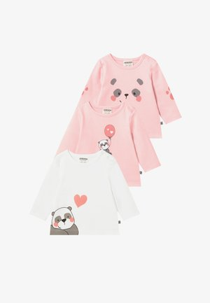 PANDA LOVE 3 PACK - Long sleeved top - light pink
