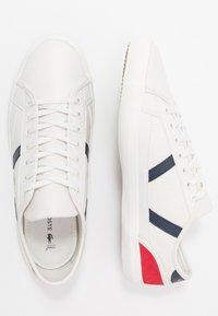 Lacoste - SIDELINE - Sneakers - offwhite/navy/red - 1