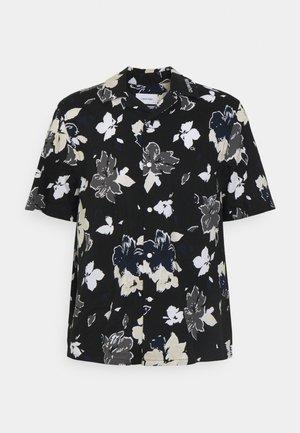 SHORT SLEEVE FLOWER PRINT  - Skjorta - print / black