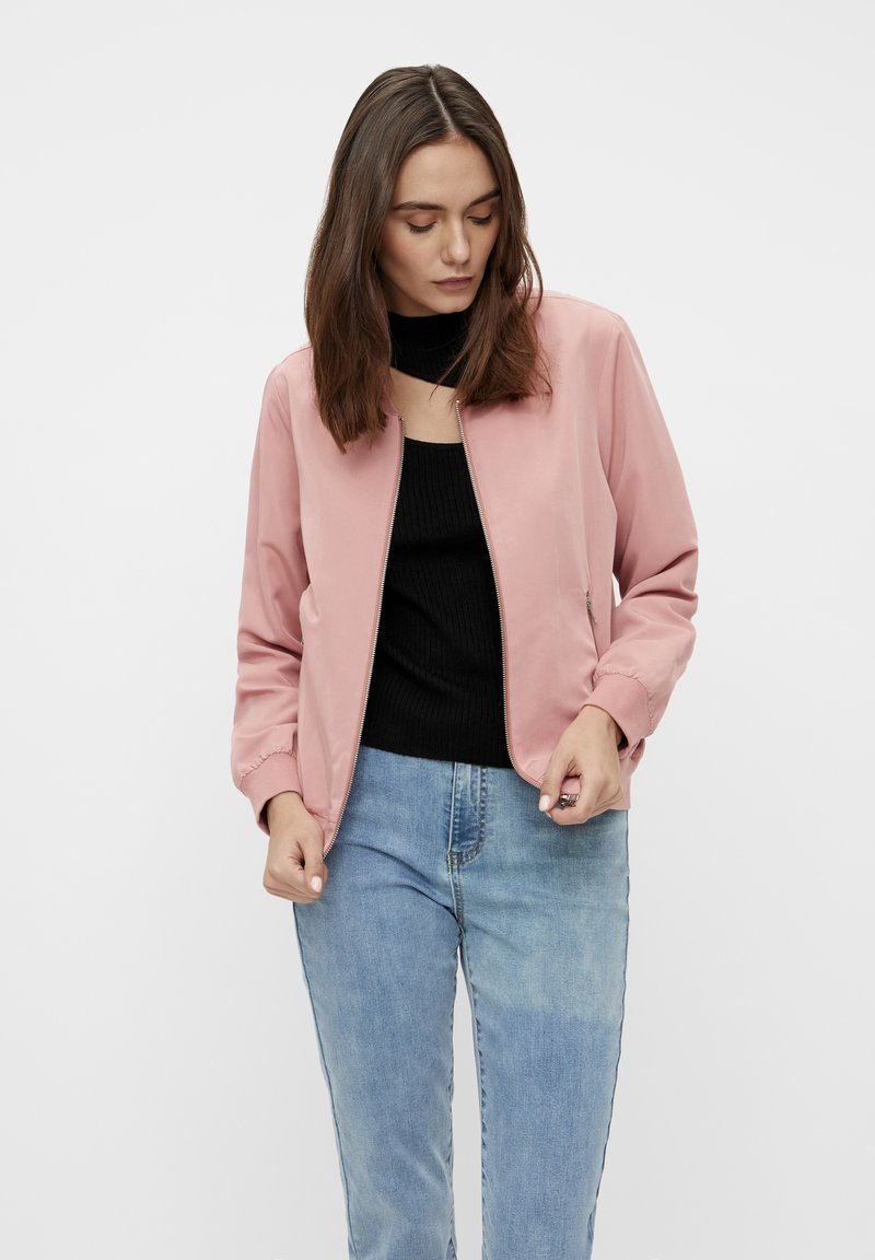 Object - GLÄNZENDE - Bomber Jacket - ash rose
