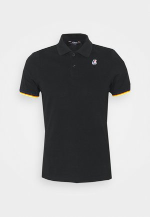 VINCENT CONTRAST STRETCH UNISEX - Polo shirt - black