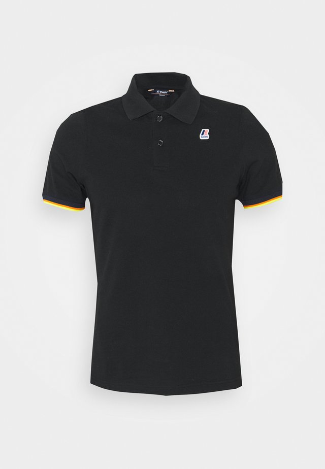 VINCENT CONTRAST STRETCH UNISEX - Poloshirt - black
