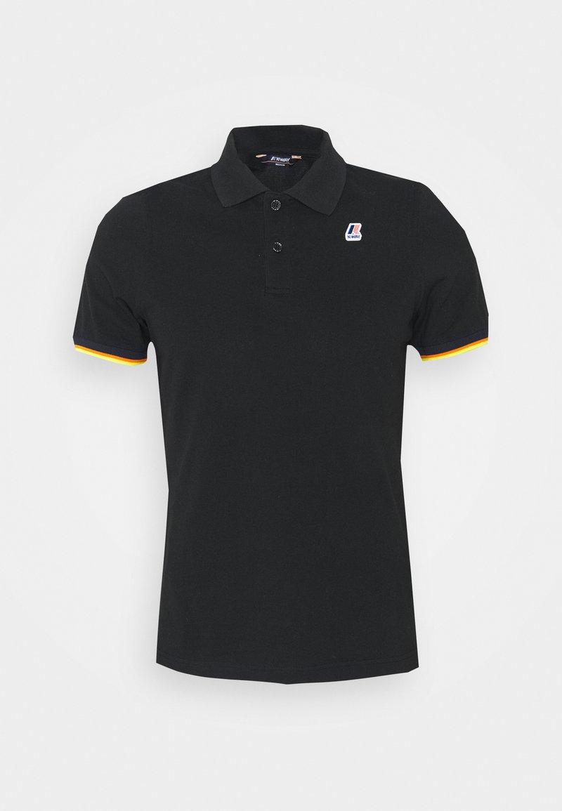 K-Way - VINCENT CONTRAST STRETCH UNISEX - Polo shirt - black