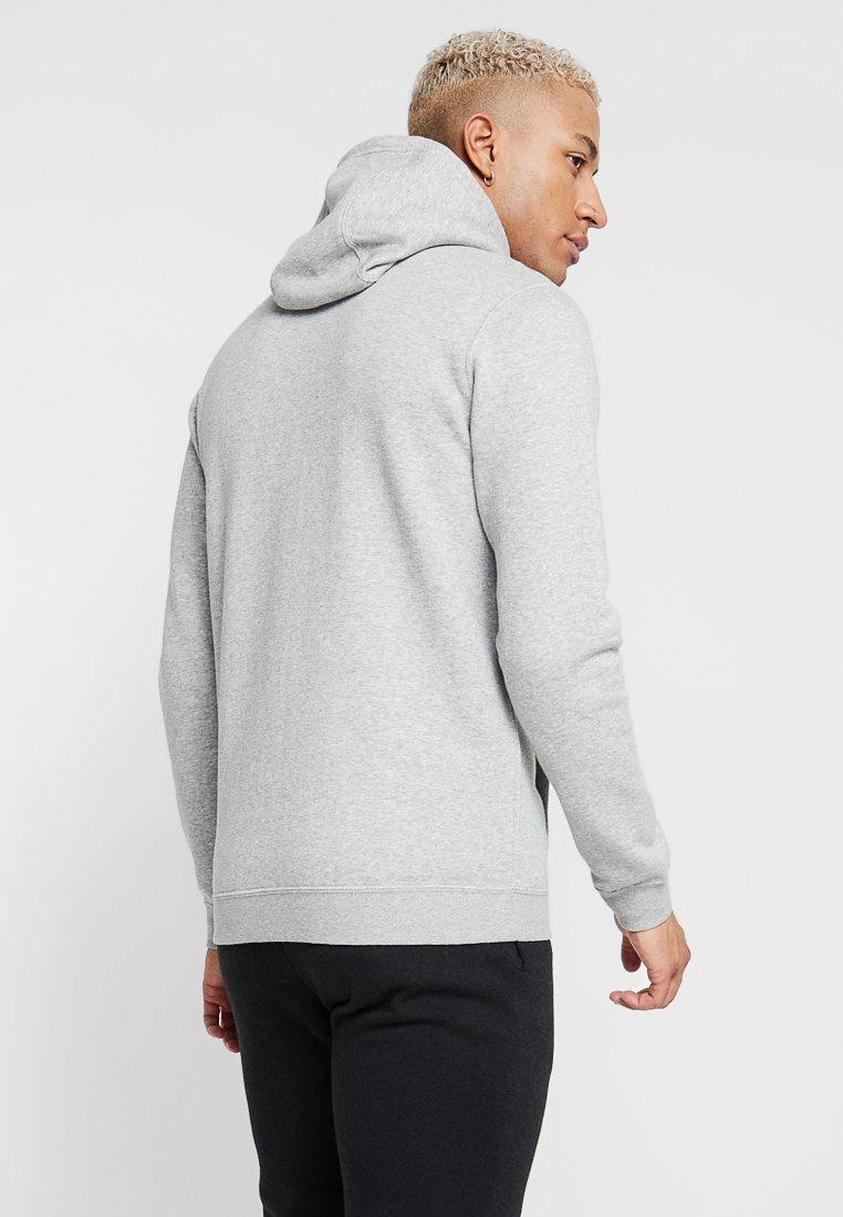 Nike Sportswear CLUB FULL ZIP HOODIE - veste en sweat zippée - dark grey heather/white