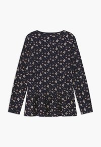 Blue Seven - KIDS FLORAL PEPLUM - Long sleeved top - nachtblau