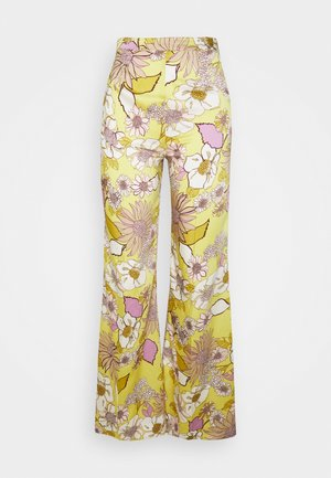 Trousers - jaune/lilas