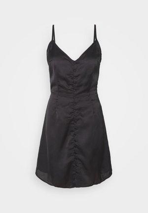 YASALMA STRAP SHORT DRESS - Day dress - black