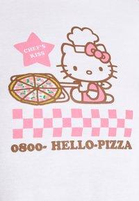 NEW girl ORDER - PIZZA RAGLAN BABY TEE - Triko spotiskem - pink/white - 5