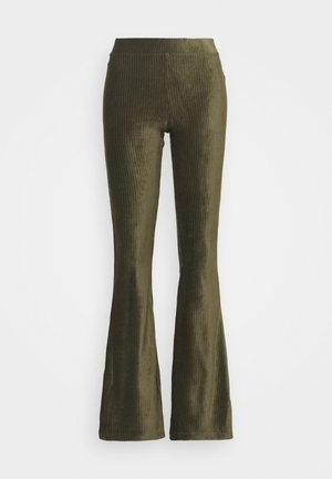 ONLLOTTA FLARED PANT  - Trousers - balsam green