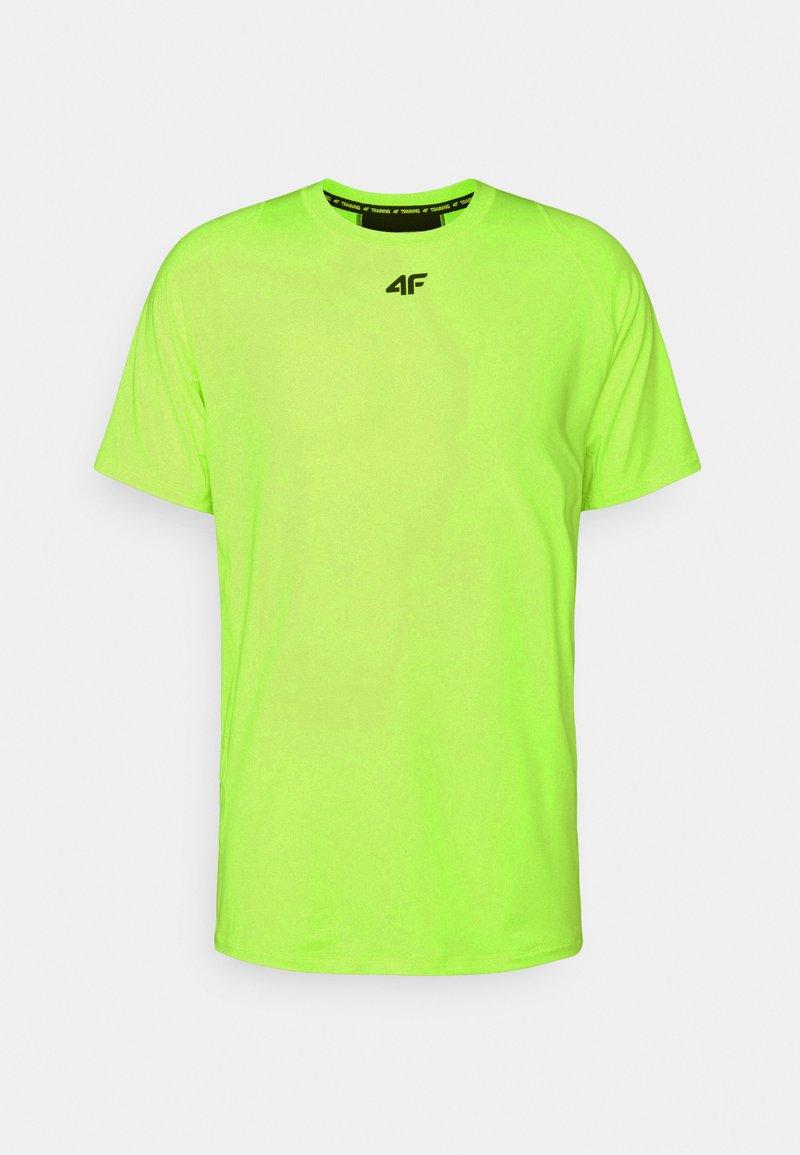 4F - Men's training T-shirt - T-shirt imprimé - neon yellow