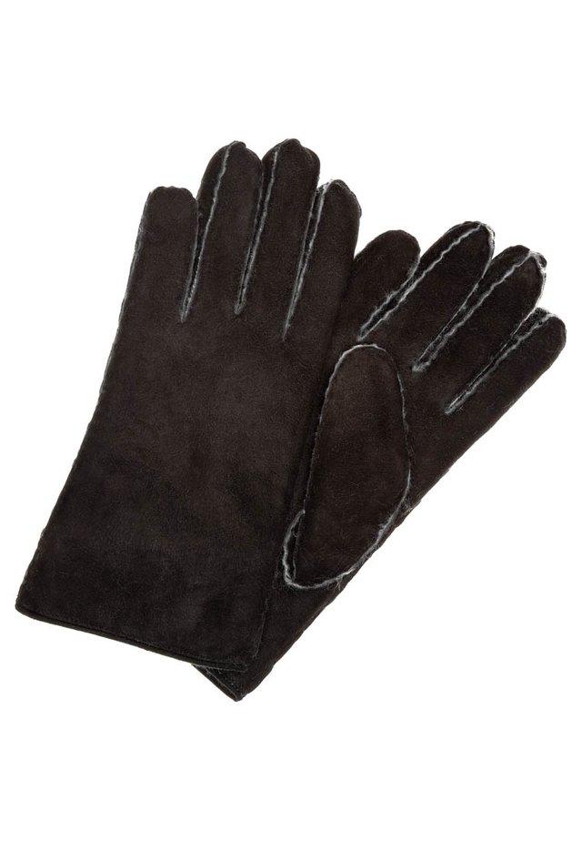 CLASSIC SILK LAMB - Gloves - black / natur