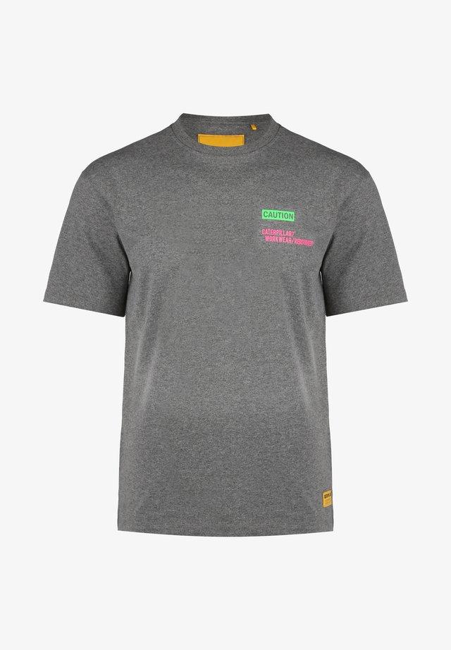 T-shirt con stampa - gray melange