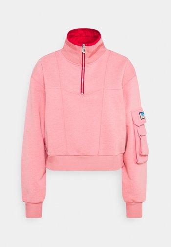 POP OVER MILITARY INSPIRED ZIP DETAIL - Sweatshirt - pink smoothie
