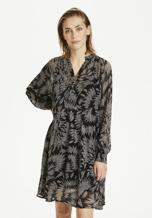 ABIRAPW - Day dress - zig zag print, black