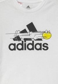 adidas Performance - UNISEX - Camiseta estampada - white - 2