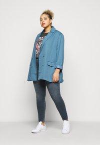 River Island Plus - Jeans Skinny Fit - dark smokey - 1