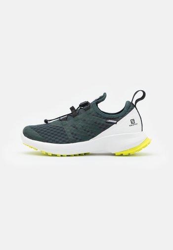 SENSE FLOW CSWP UNISEX - Hiking shoes - green gables/white/evening primrose