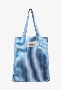 Mads Nørgaard - ATOMA - Shopping Bag - blue/white - 1