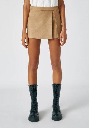 Spódnica trapezowa - camel