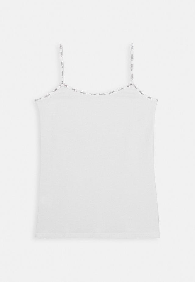 LOGO BORDEER - Unterhemd/-shirt - bianco