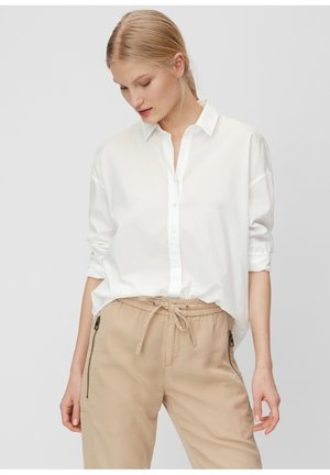 MARC O'POLO BLUSE AUS ORGANIC COTTON - Button-down blouse - white
