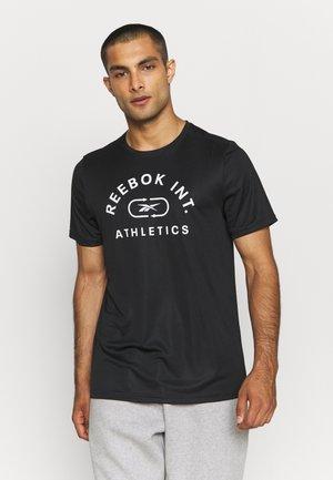 GRAPHIC TEE - T-shirt con stampa - black/white