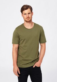 Selected Homme - SHDTHEPERFECT - T-paita - olive - 0