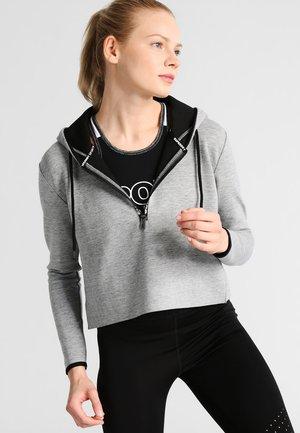 Felpa con cappuccio - grey grit/black