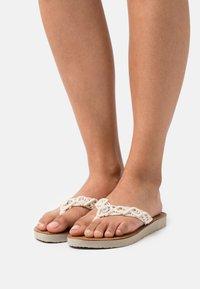 Tommy Hilfiger - FOOTBED  - T-bar sandals - ivory - 0