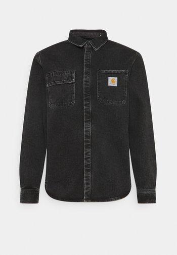 SALINAC SHIRT MAITLAND - Overhemd - black stone washed