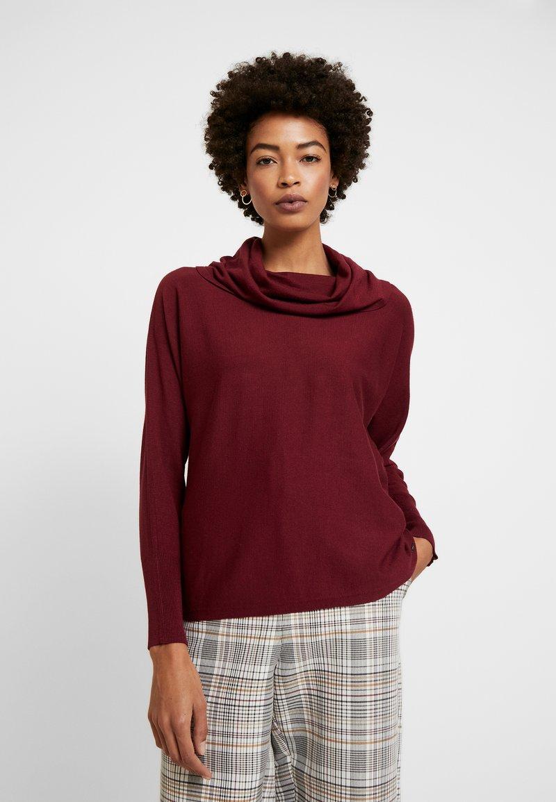 s.Oliver - Stickad tröja - bordeaux