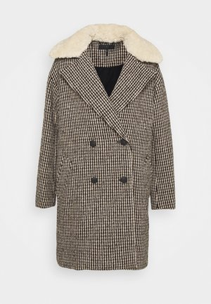 NINI PLAID COAT - Klassinen takki - black/white