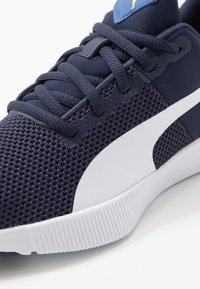 Puma - FLYER RUNNER JR UNISEX - Neutral running shoes - galaxy blue/white/peacoat/meadowlark - 2