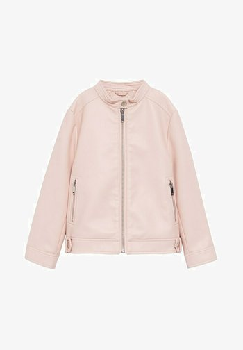 MAO - Faux leather jacket - rose clair