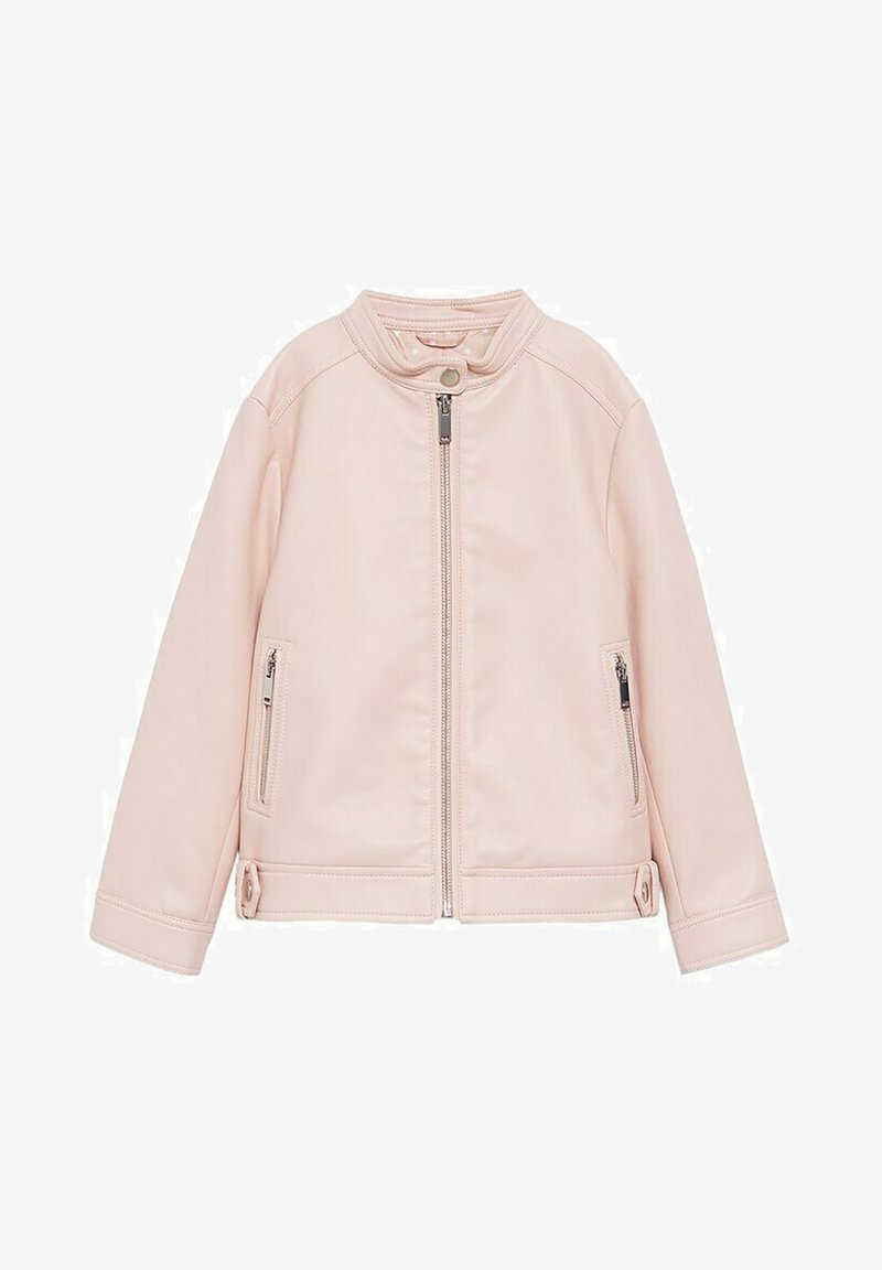 Mango - MAO - Faux leather jacket - rose clair
