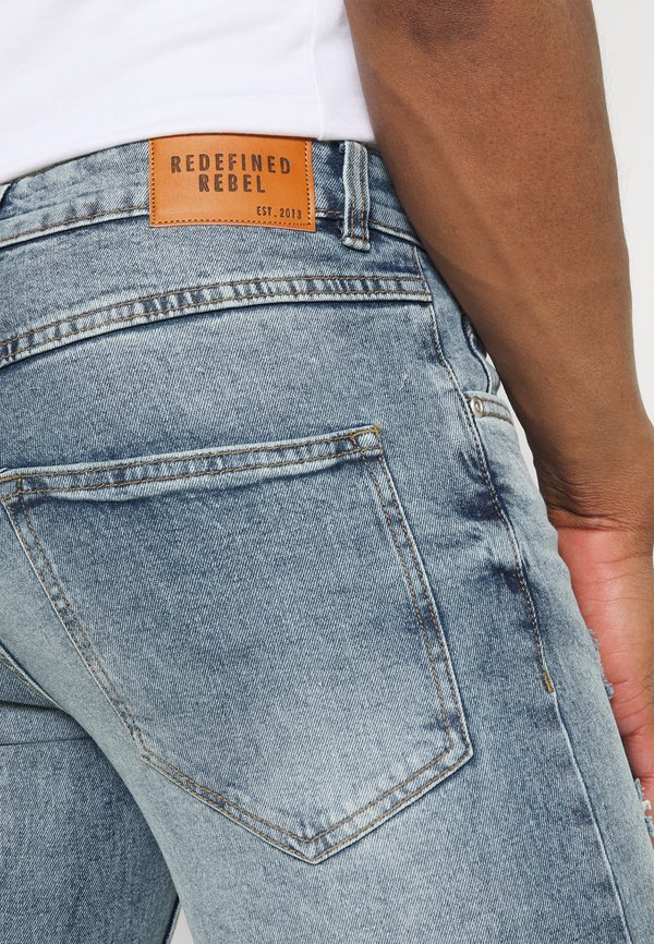 Redefined Rebel STOCKHOLM - Jeansy Slim Fit - exotic lagoon/niebieski denim Odzież Męska FOWG