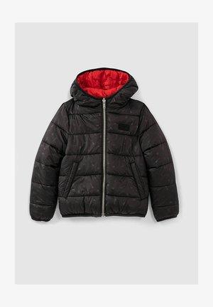 BLOUSON REVERSIBLE PADDED JACKET - Down coat - noir/rouge moyen