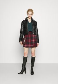 New Look - DUDLEY BRUSHED CHECK MINI - A-line skirt - multi - 1