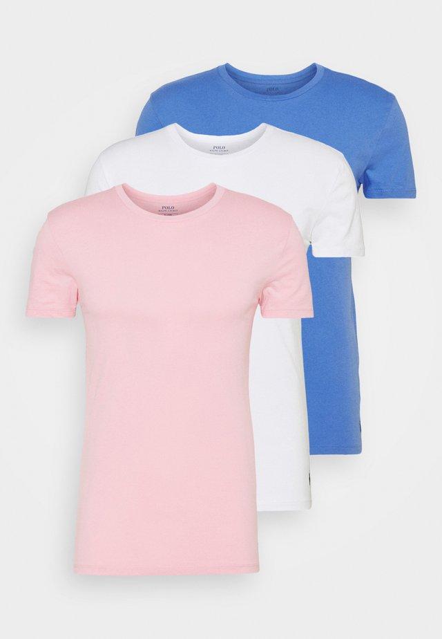 3 PACK - Unterhemd/-shirt - white/blue/pink
