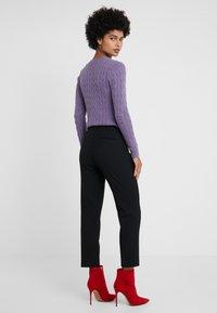 Lauren Ralph Lauren - SUITING PANT - Pantaloni - black - 2