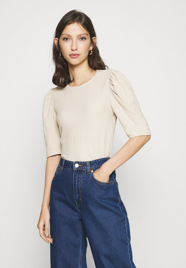 ONLMANDY PUFF - Blouse - silver lining