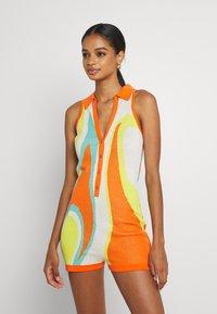 Jaded London - SLEEVELESS INTARSIA ROMPER ABSTRACT ART - Jumpsuit - orange/white/yellow/green - 0