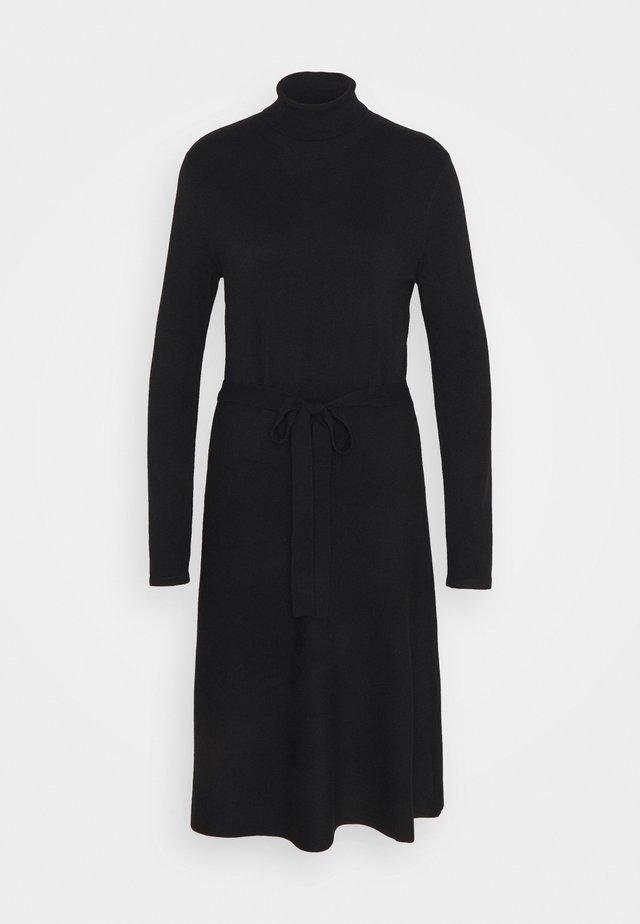 Gebreide jurk - true black