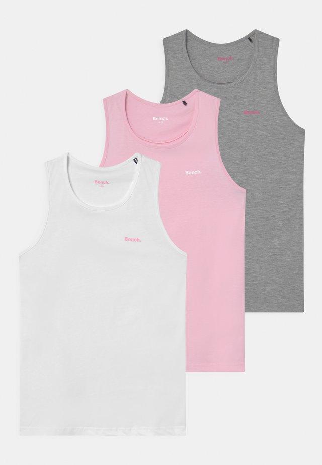 WILLA 3 PACK - Débardeur - white/pink/grey