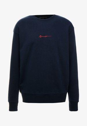 CONTRAST SIGNATURE - Sweatshirt - navy